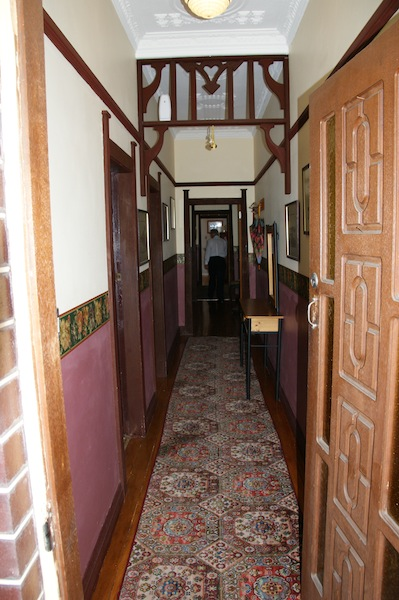 The two-toned hallway