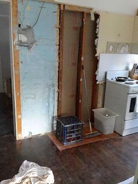 old doorway kitchen